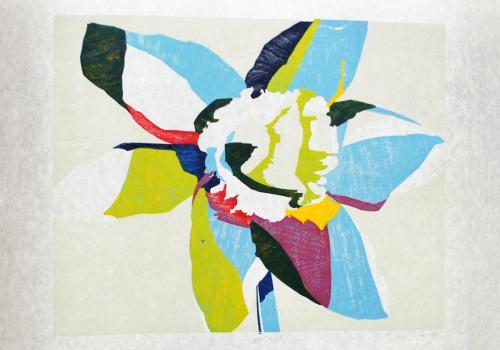 Ann Conner (American, b. 1948). Spectrum II, 1984. Woodcut on rice paper, 24 7/8x37in. Leepa-Rattner Museum of Art, gift of St. Petersburg College Foundation, 2010.116