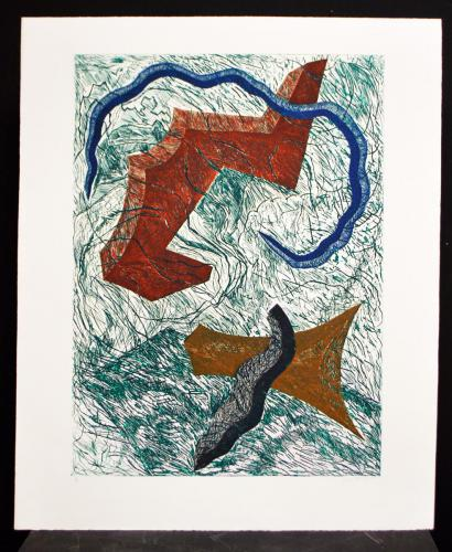 Joan Thorne (American, b. 1943) Apsalo, 1985. Etching on paper, ed. 8/25, 36x29 5/8in. Leepa-Rattner Museum of Art, gift of St. Petersburg College Foundation, 2010.117