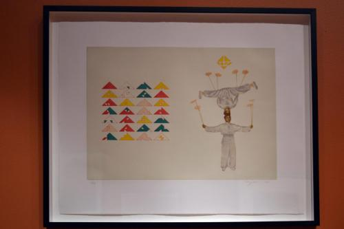 Hung Liu (Chinese/American, b. 1948) Permutations/Plates, 1997. Aquatint and hard ground etching, 18x24in. Leepa-Rattner Museum of Art, St. Petersburg College, Gift of Jim and Martha Sweeny, 2017.12