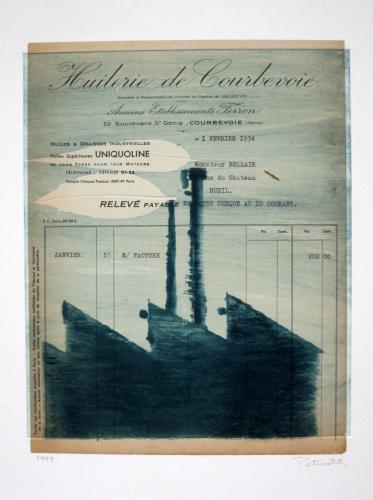 Franchise Petrovitch (French, b. 1964) L'Huiliere de Courbevoie,1999. Monoprint, 17 3/16x 15 1/2in. Leepa-Rattner Museum of Art, St. Petersburg College, gift of Caroline Adams Byrd-Denjoy, 2011.24