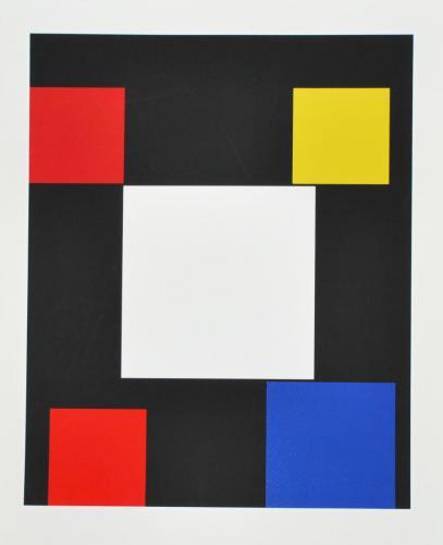 Aurelio Nemours (French, 1910-2005). Sans Titre (untitled), 1969-1990. Silkscreen, ed. 78/90, 30 1/2x 23 in. Leepa-Rattner Museum of Art, St. Petersburg College, gift of Caroline Adams Byrd-Denjoy, 2009.101.6