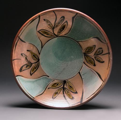 "McKenzie Smith""Platter"", 2020Soda fired ceramic18 x 18 x 4in."
